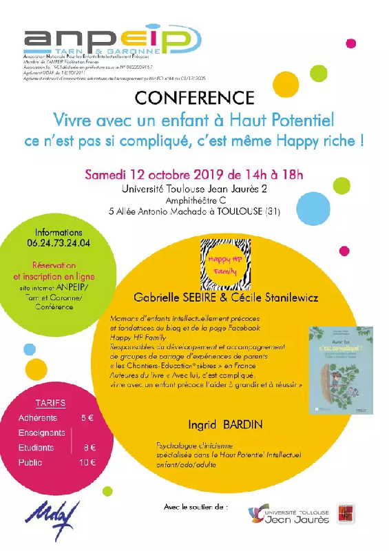 Conférence pour les parents d'enfants intellectuellement précoces