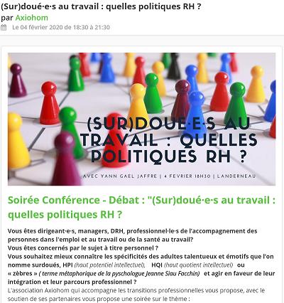 Conférence sur les surdoués au travail