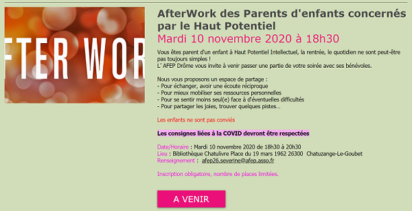 after work des parents d'enfants HPI