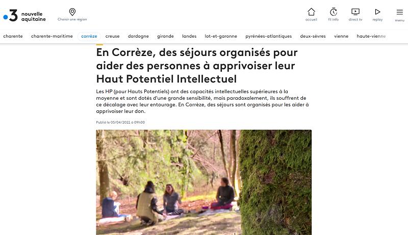 Stages pour HPI en Corrèze